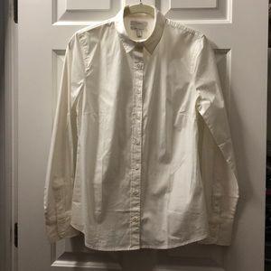 J.Crew Stretch Perfect Shirt, White, Small